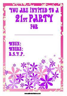 21st Invitations All Free Invitations