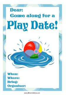Kids Playdate Invitations|All Free Invitations